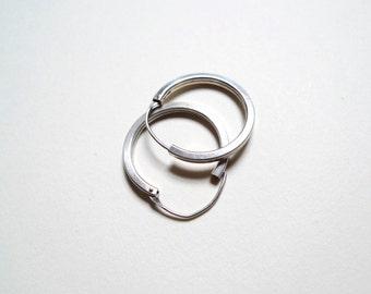 Sale - Silver Hoops, Silver Hoops, Vintage Hoops, Silver Earrings, Small Simple Hoops, Hoop Earrings, Classic Hoops, Vintage Earrings