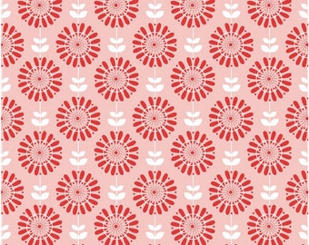 Twice as Nice by The Quilted Fish Riley Blake Fabric - Pink Garden - Half Yard - Cotton Fabric