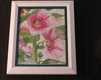 Using a photo Hibiscus flowers tapestry