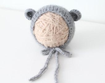 Newborn hat - Newborn bear – Baby props – Newborn boy – Photo props – Baby boy bear – Newborn props – Baby boy props - Bear hat - Ears hat