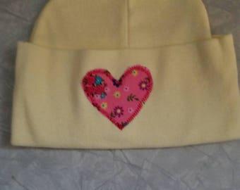 Baby heart hat