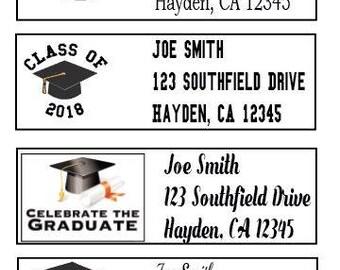 30 Personalized Graduation Address Labels - Custom Graduation Return Address Labels - Graduation Stickers - Graduation Labels - Graduation