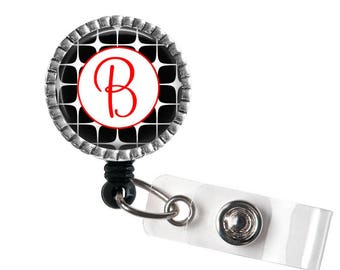 Red Initial Badge Reel