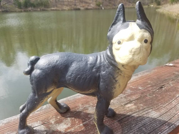 - Antique Cast Iron HUBLEY Boston Terrier Door Stop Shop
