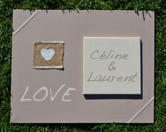 Custom painting - Wedding gift - idea