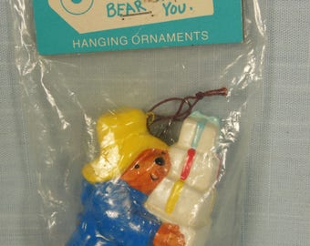 Vintage 1975-Paddington Bear hanging Ornament-In Original Package-Never Opened