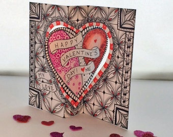 Downloadable Tangle Your Own - Valentine's Day Card