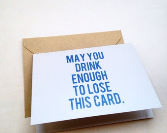 Friend Birthday Card - Humor Birthday - Sarcastic Birthday - Funny Birthday - Drinking Card