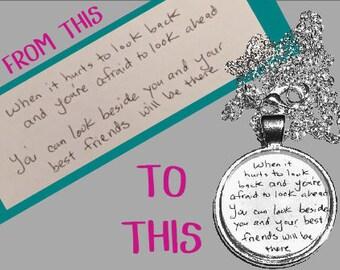 Memorial Keepsake - Custom Anniversary Gift - Handwriting Keepsake - Custom Pendant - Personalized Gift Ideas - Unique Gifts - In Memory Of