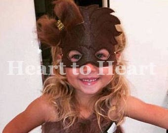 Chewbacca mask with fur clip, Chewbacca costume, Chewy, Chewbaca mask, Star wars inspired, Star war character mask
