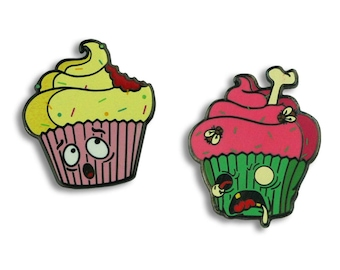 Zombie Cupcake Attack (set of 2) - Enamel Pin