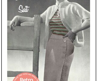 1930's Three Piece Suit Knitting Pattern - Instant Download - PDF Instant Download - PDF Knitting Pattern