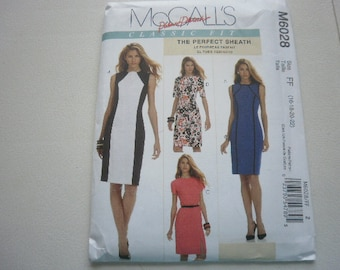 Pattern Women Dresses 4 Styles Sizes 16 to 22 McCalls 6028