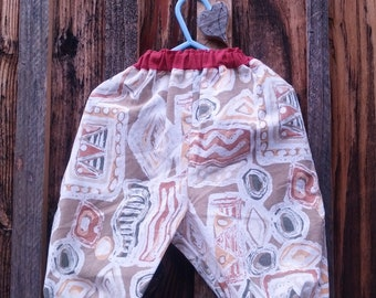 Upcycled boy or girl baby pants size 12 mos kid-tested washable