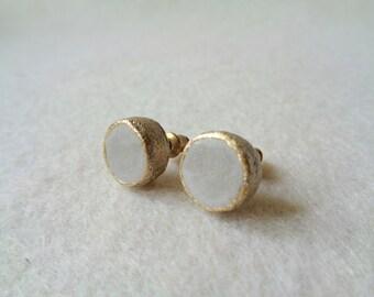 Concrete Stud Earrings,