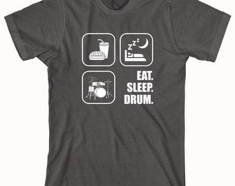 Eat Sleep Drum V2 Shirt - drum, drummer, drumming, gift idea for drummer, drum set, drumsticks - ID: 292