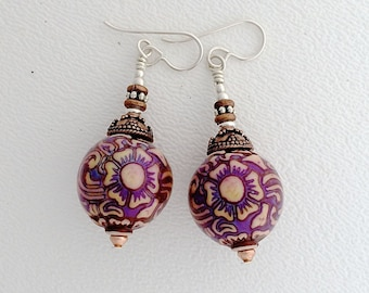 Mirage Bead Earrings Kate Drew-Wilkinson Light Weight