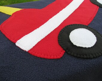 Cozy Car Baby Blanket - Fleece Baby Blanket - Cozy Car Blanket - Baby Boy Blanket - Baby Shower Gift - Baby Boy Shower Gift - READY TO SHIP
