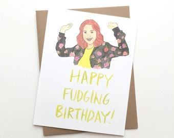 Unbreakable Kimmy Schmidt Card// Happy Birthday