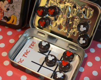 Disney Inspired Tic-Tac-Toe Tin! Perfect for parks & cruises...great Fish Extender gifts!!