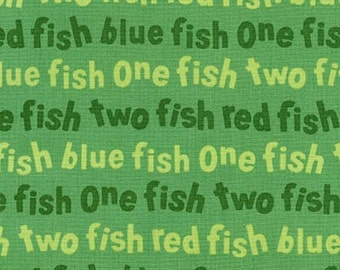 Dr Seuss Green One Fish Two Fish Red Fish Blue Fish from Robert Kaufman