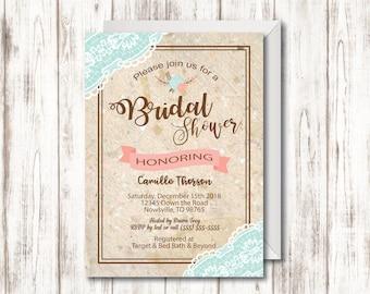 Lace Bridal Shower Invite