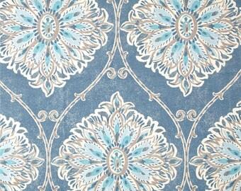 Leverett Denim geometric traditional home decor cotton fabric by the yard Magnolia Home Fashions