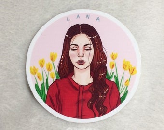 Lana Del Rey Sticker (Set of 2) // Water Resistant
