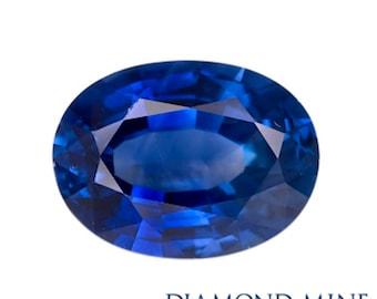 1.01 Carat Blue Sapphire, Oval cut Sapphire, Loose Sapphire Gemstone, Blue Gemstone, Non Heated Real Sapphire