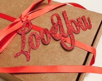 Valentine's Day Gift, Valentines Name Tag, Valentine's Day Label, Personalised Valentines Gift Tag, Valentine's Day Gift Wrap, Name Tag