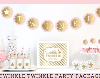 Twinkle Twinkle Little Star Baby Shower Decorations Twinkle Twinkle Little Star Theme Twinkle Baby Shower Package  (EB4011TW)