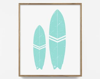 teal surf print, turquoise surf decor, surf decor, turquoise print, aqua decor, printable surf art, surf art, surf print, turquoise decor