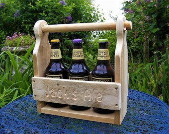 Beer Caddy/ Rustic /Shabby Chic/Reclaimed Wood/Personalised/Father's Day Gift/Birthday