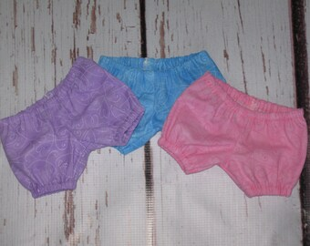 Doll Bloomers-Handmade Bloomers fit Baby Stella,Wee Baby Stella,Bitty Baby-Choice of colors & sizes-Lavender, Blue or Light Pink Heart Swirl