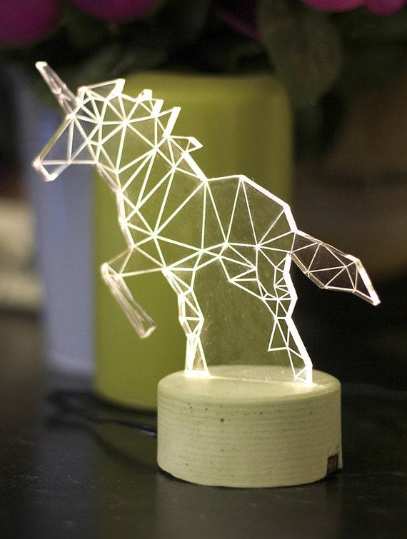 Pink unicorn night light concrete lamp unicorn nursery like this item aloadofball Image collections