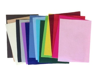 Scrap Felt Bundle - Assortment - 17 sheets - Craft Supplies