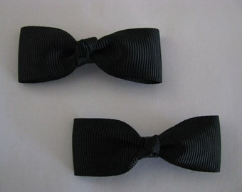 baby girl hair accessories black bow clips small