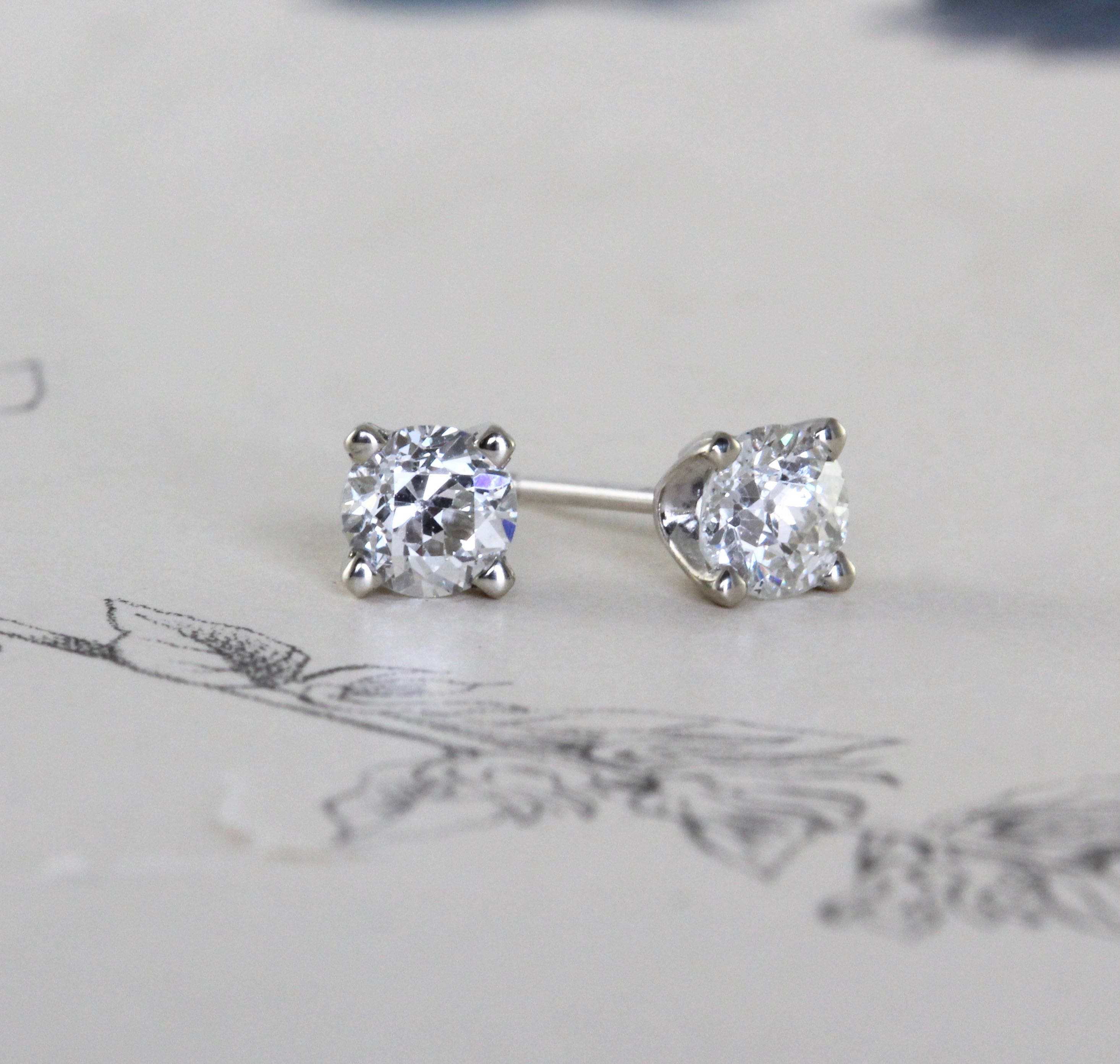 antiques butter cut antique earrings products instagram lane old stud mine diamond