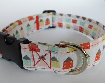 Handmade dog collar in Gu den, model cabins, size M/L