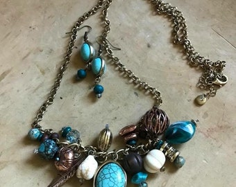 Turquoise and Gold Set