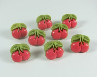 Pink Cherry Novelty Buttons