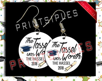 Graduation Earrings Gift Jewelry Humor 2018 the Tossel