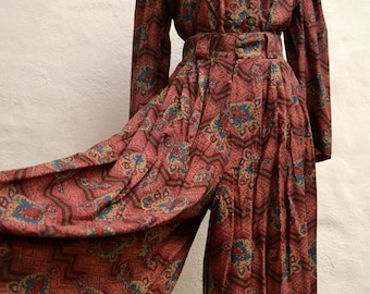 1980's CULOTTES and BLOUSE SET