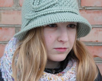 Crochet Hat With Brim, Women's Crochet Hat, Winter Accessories