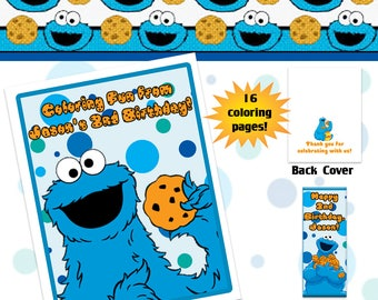Cookie Monster Coloring Book with Crayons