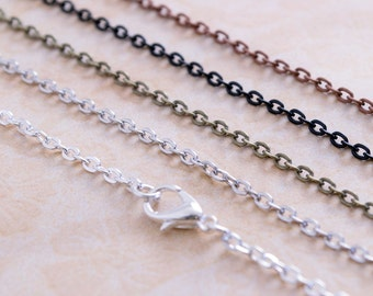 Chains for jewelry making etsy more colors aloadofball Choice Image