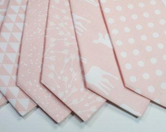 Petal Ties Petal Neckties Blush Ties Blush Nectkies Light Pink Ties Blush Dusty Rose Neckties Wedding Neckties Weddings Light Pink Neckties