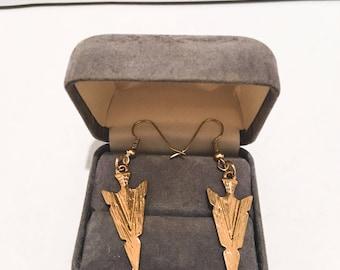Golden Arrowhead Earrings