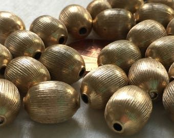 VB223 Vintage collared metal beads 2 sizes 34 pc jewelry making collage