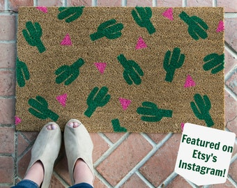 Cactus Doormat / Doormat / Welcome Mat / Housewarming Doormat / Succulent Doormat / Front Door Mat / Summer Doormat / Cactus Decor / Cactus